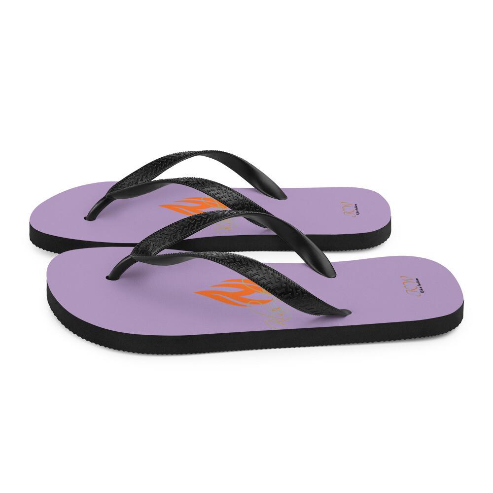 Purple Klas-ik Wear Flip-Flops