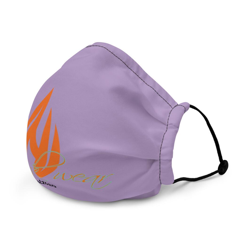 Lilac Purple Klas-ik Wear New Flame face mask