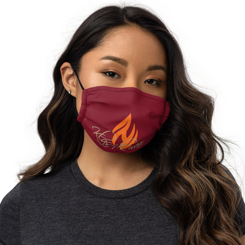 Maroon New Flame face mask
