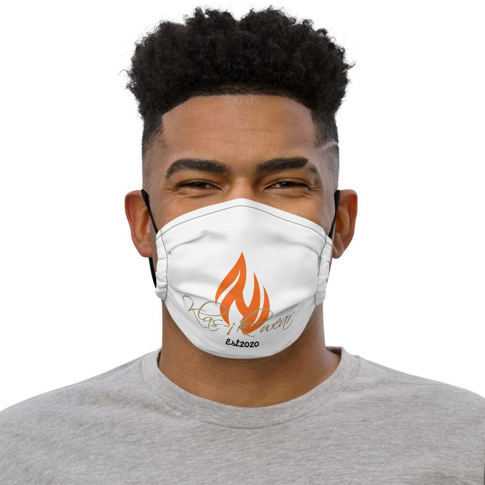 White Klas-ik Wear New Flame face mask