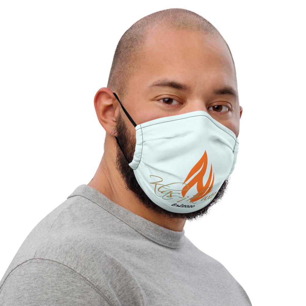 Light Blue Klas-ik Wear New Flame face mask