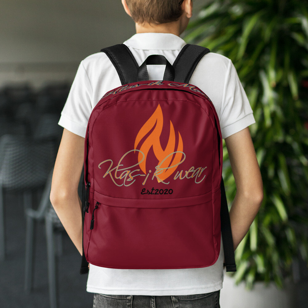 Maroon New Flame Back Pack