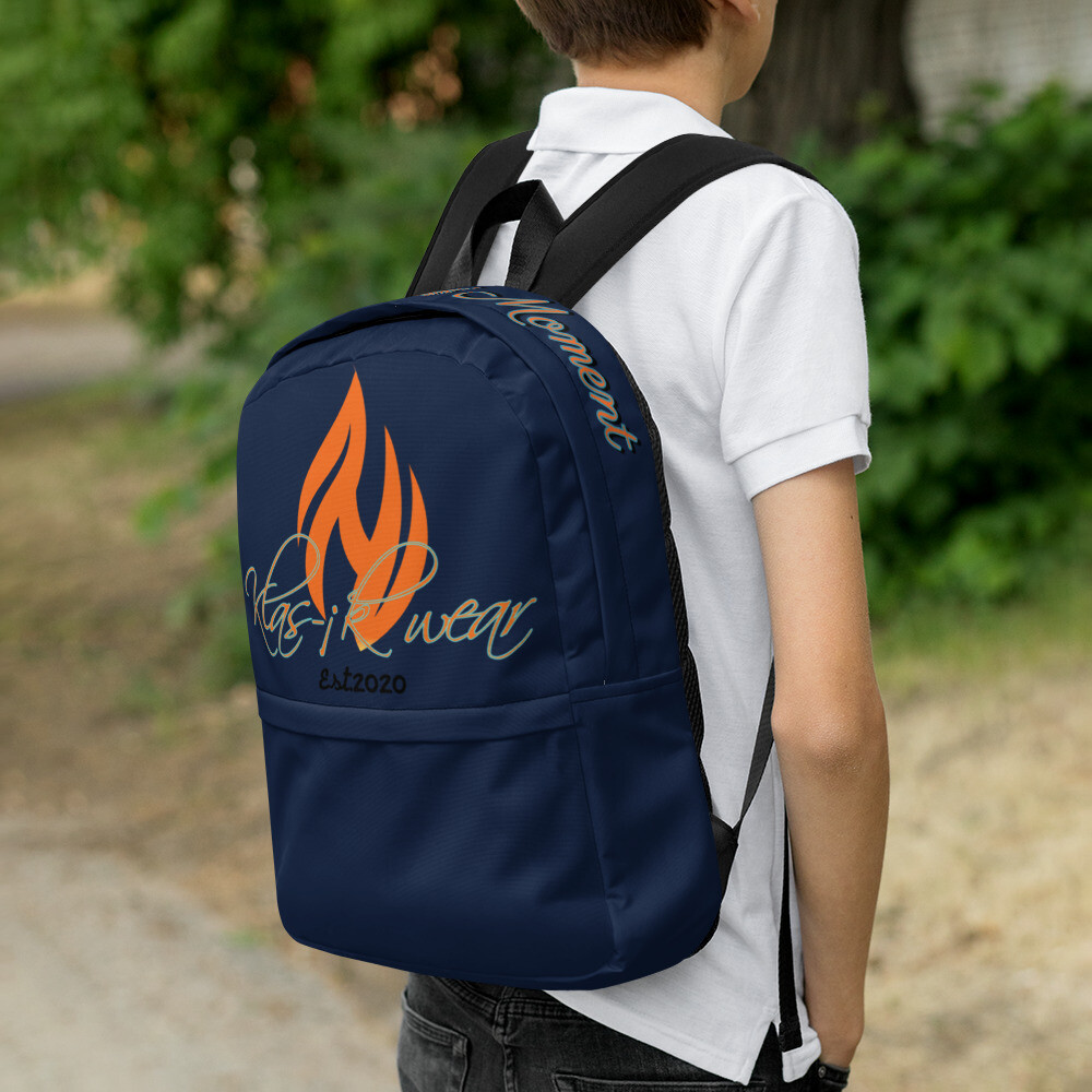 Navy Blue KW New Flame Backpack