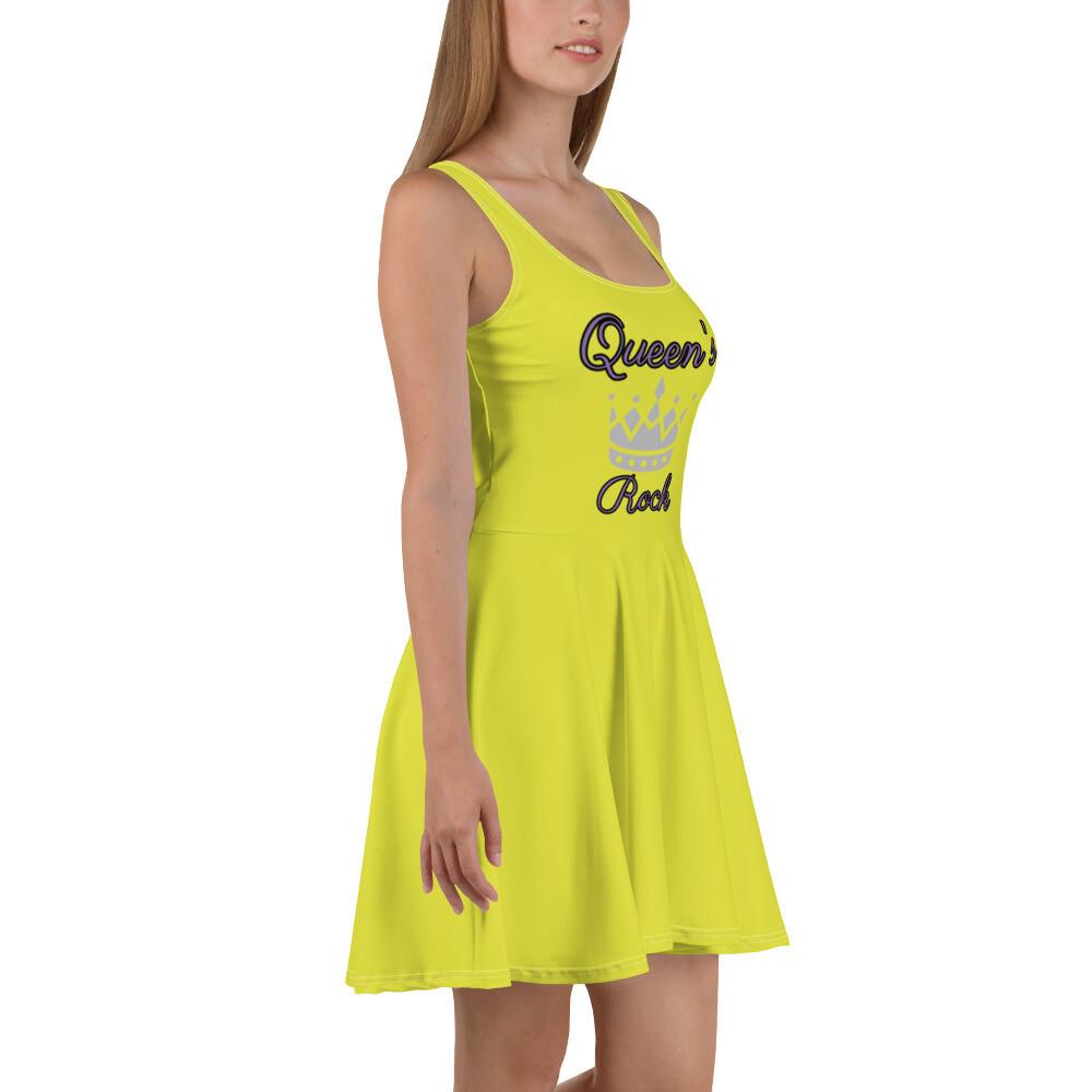 Lime Green Quuen's Rock Skater Dress