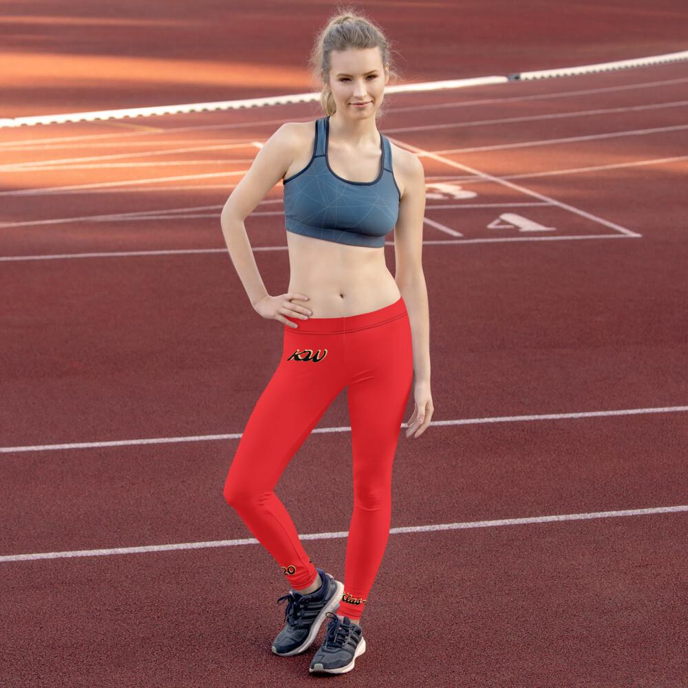 Red KW Sports Leggings