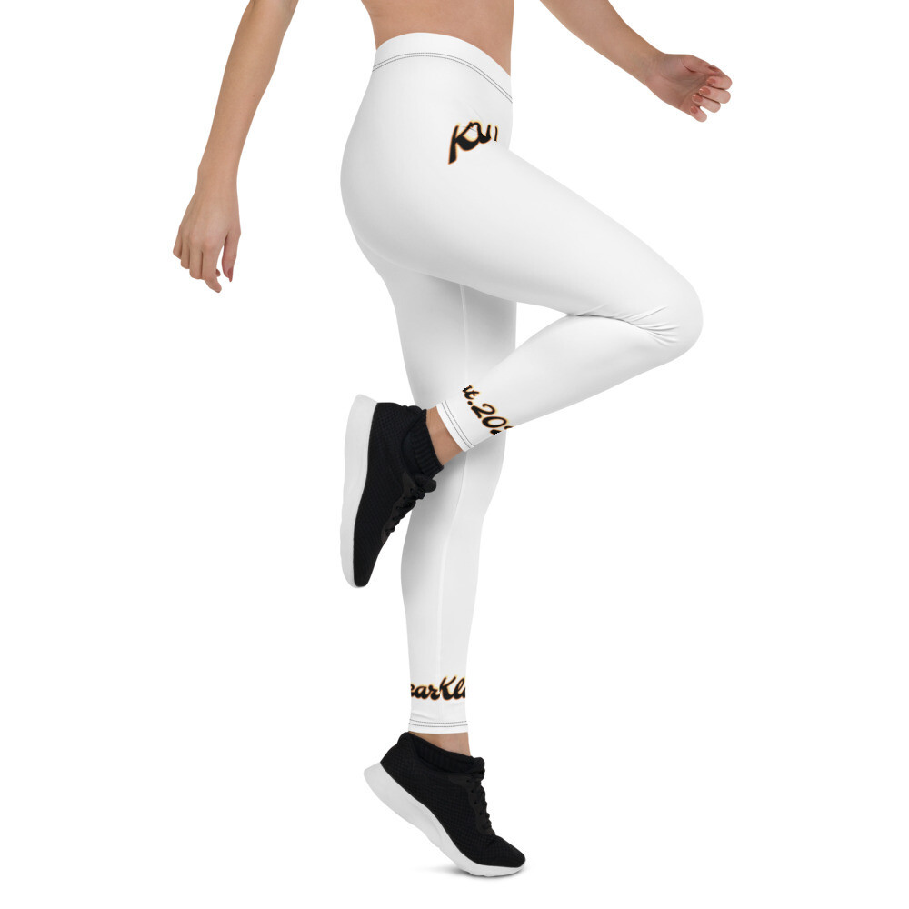 Ladies White Klas-ik Wear Sports Leggings