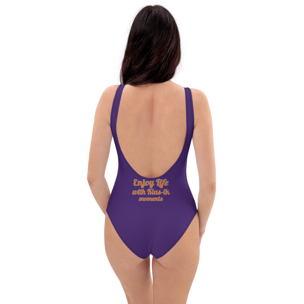 Grape Purple One-Piece New Flame Swimsuit