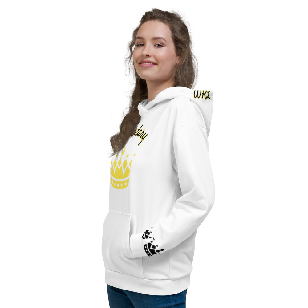 White Gold Crowned Legendary Hoodie