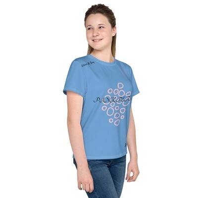 Girl's Blue Youth Pink Pearl T-Shirt
