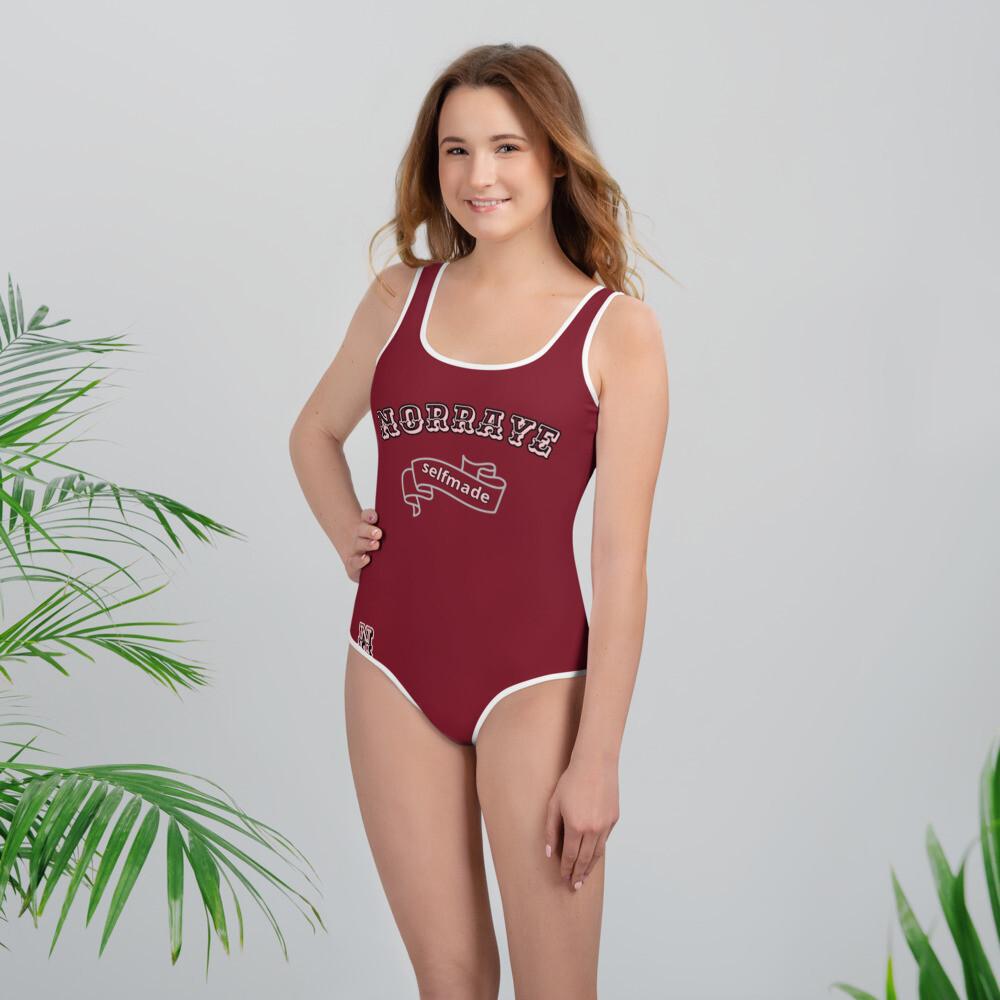 Maroon NORRAYE girl's Swimsuit