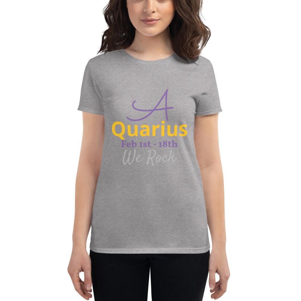 Women's Zodiac Slogan short sleeve t-shirt