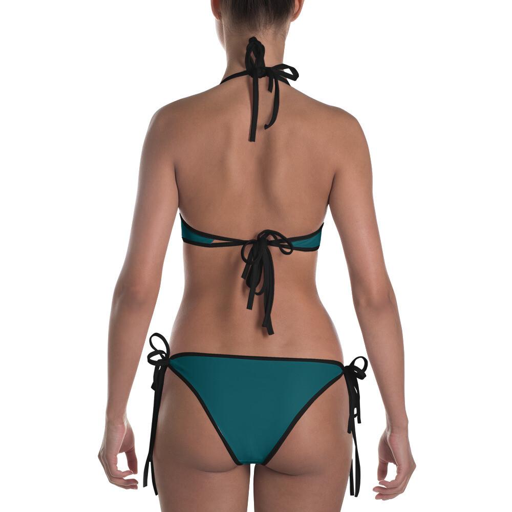 Blue Green Kj&m Bikini