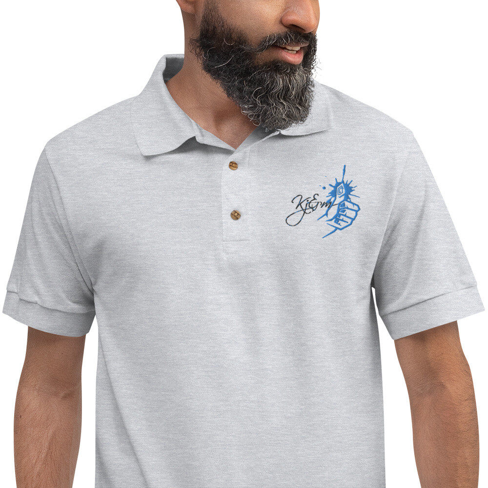 Embroidered Kj&m Polo Shirt