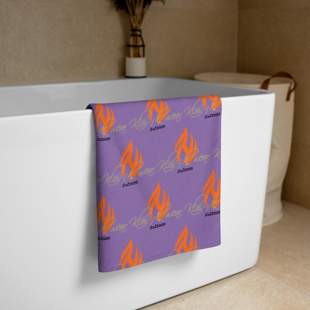 Purple Klas-ik Wear New Flame Large Towel