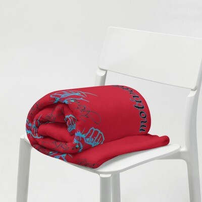 Red Kj&m Throw Blanket