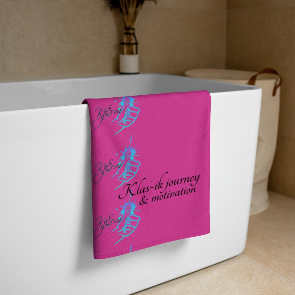 Hot Pink Large Kj&m Towel
