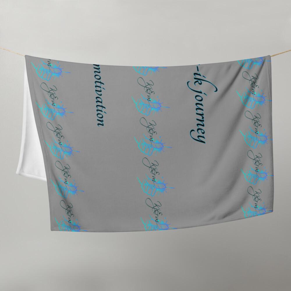 Gray K&m Throw Blanket
