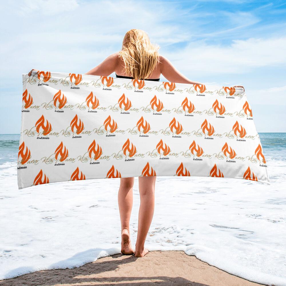 White Klas-ik New Flame Large Towel