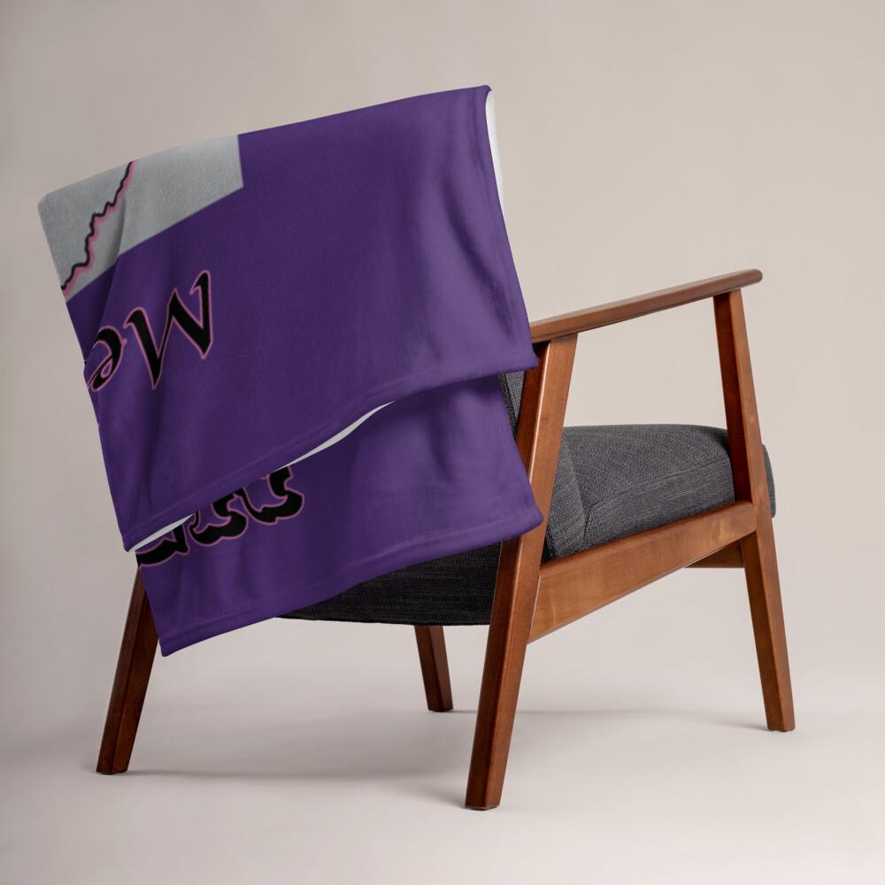 Purple Melanin Queen Throw Blanket