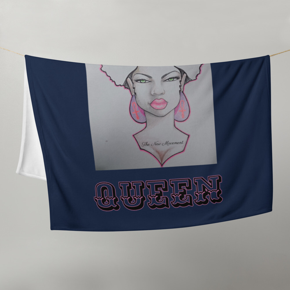 Navy Queen's Throw Blanket