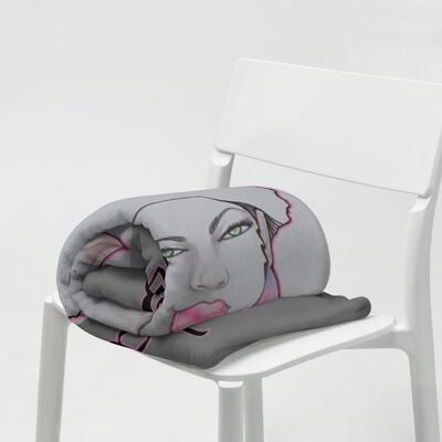 Gray Melanin Queen Throw Blanket