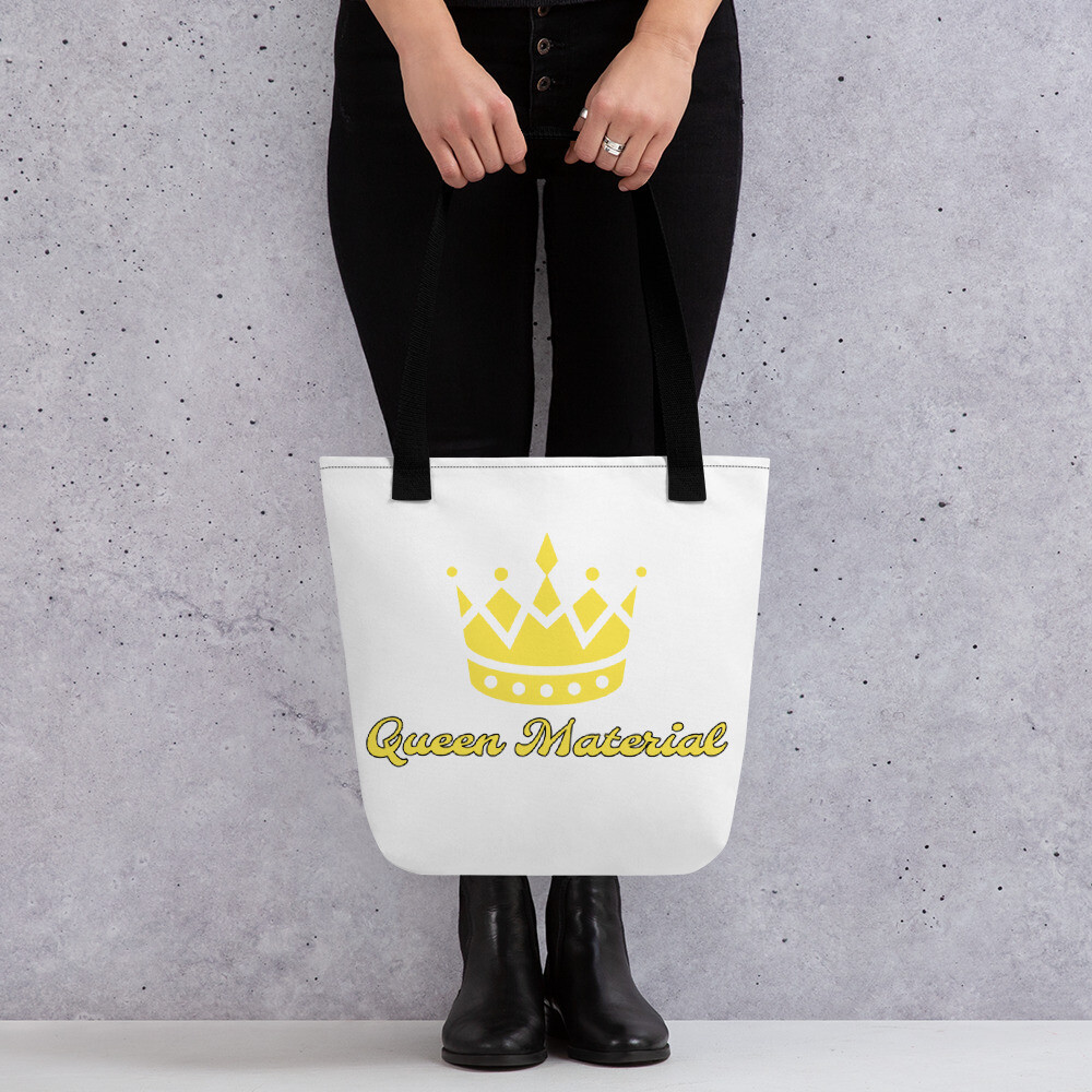 White And Yellow Queen Tote bag