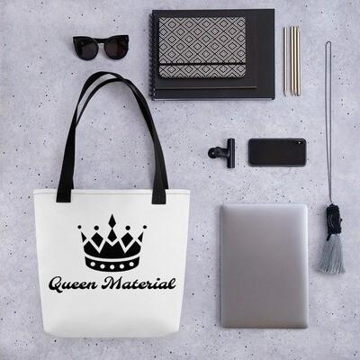 White Black Crown Queen Tote bag