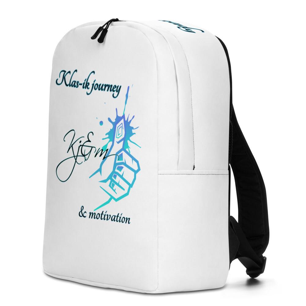 All White All Around Kj&m Backpack
