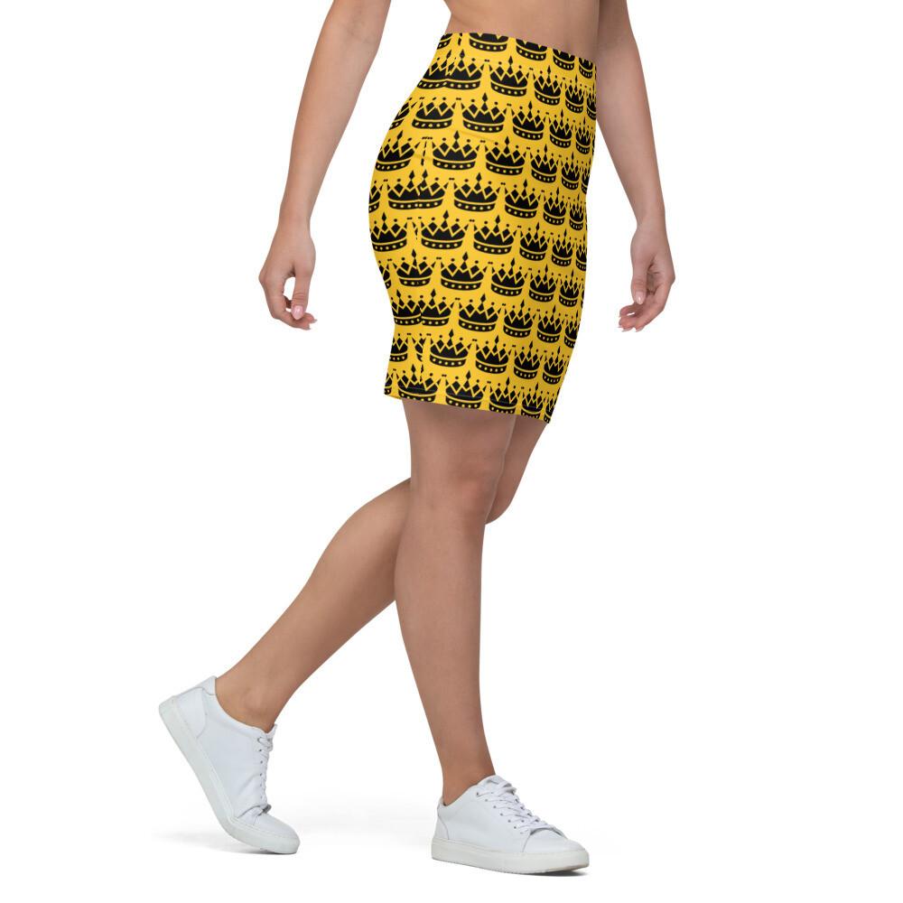 Yellow Gold Legendary Pencil Skirt