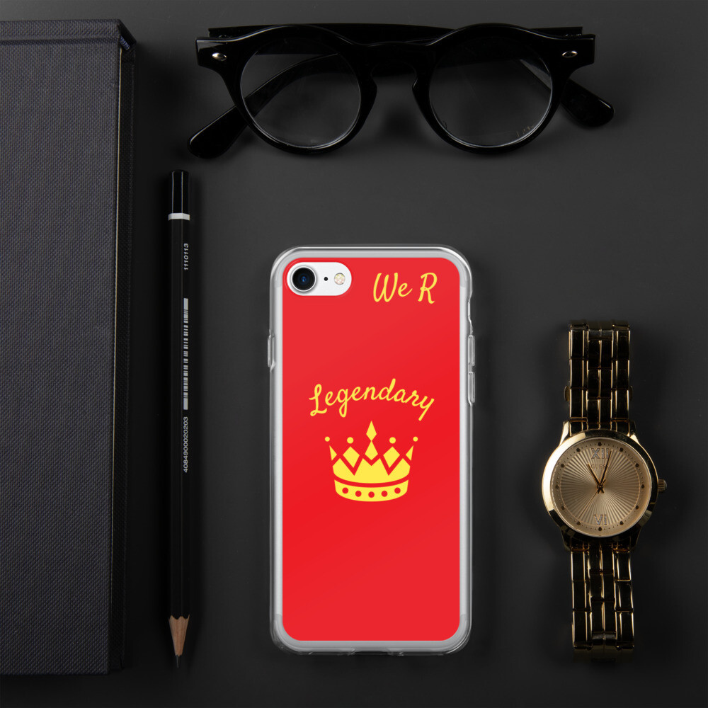 Red We R Legendary iPhone Case