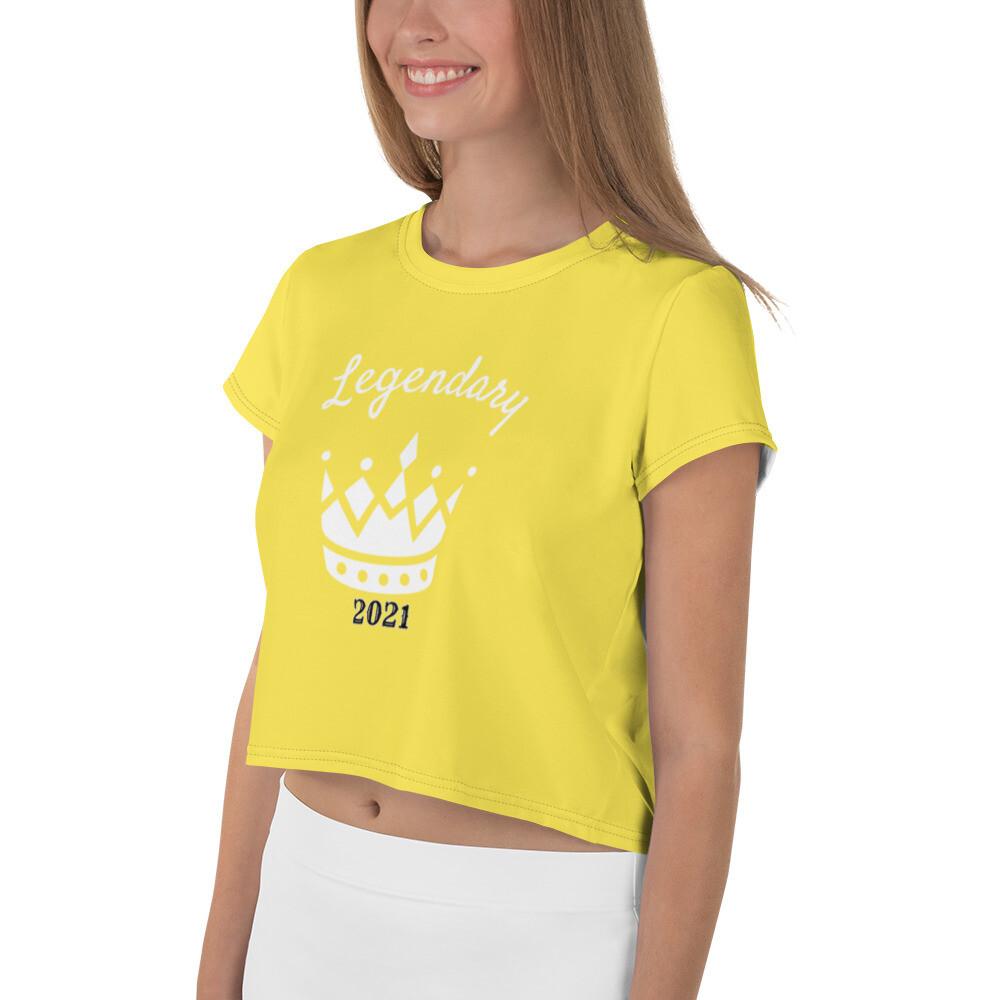 Yellow Legendary Crop Tee