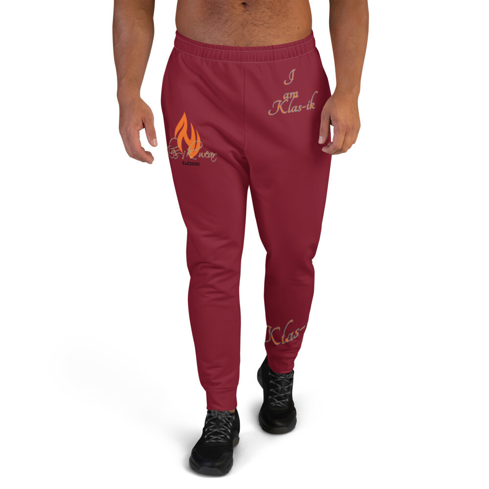 Men's Maroon New Flame Joggers