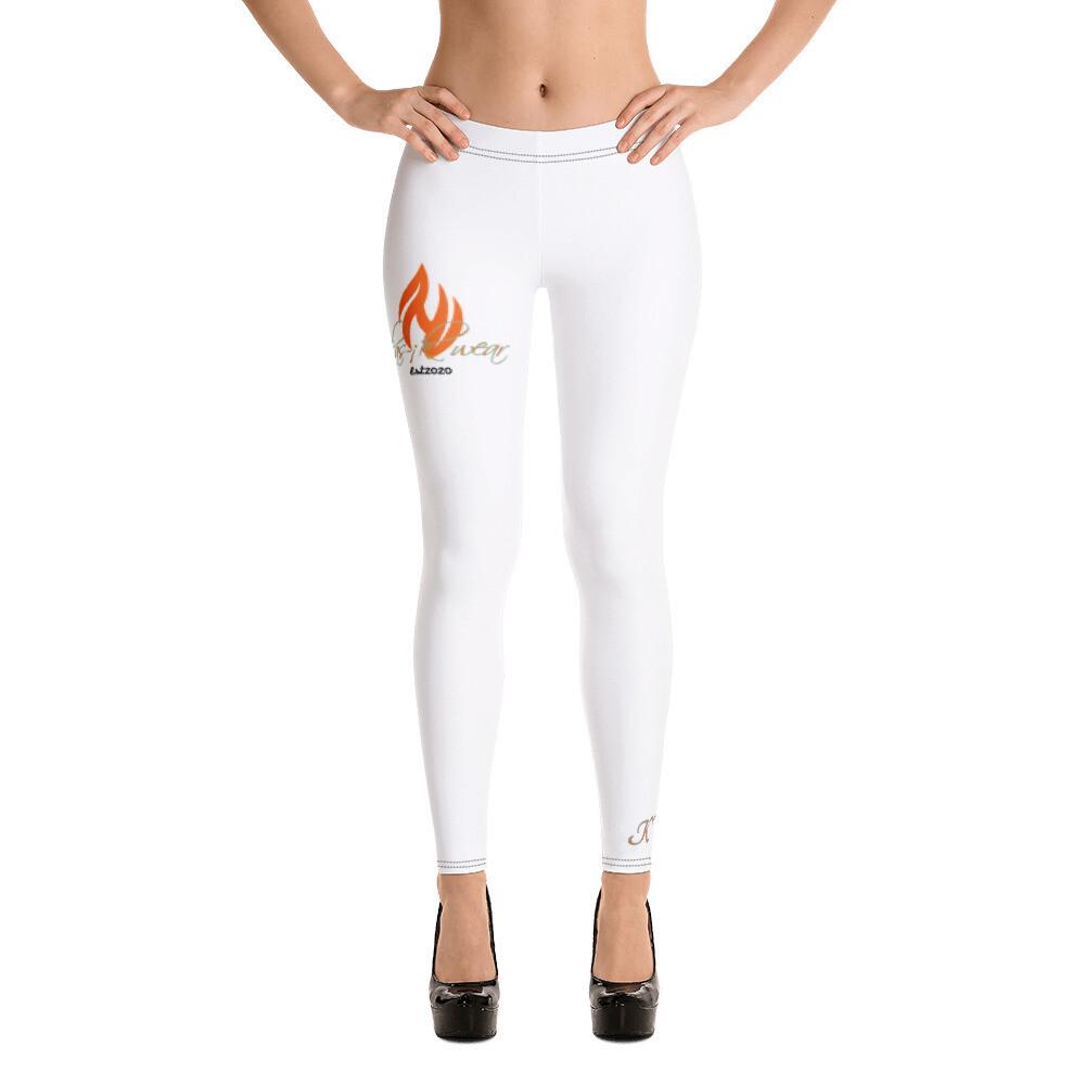 White New klas-ik Wear New Flame Leggings