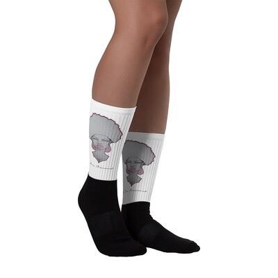 White Queen's Tube Socks