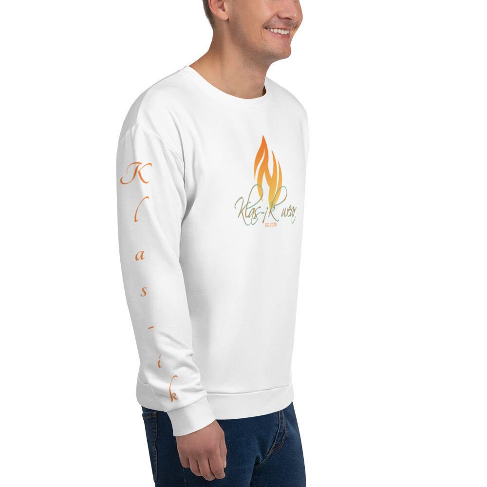 White KW I Am Klas-ik Sweatshirt