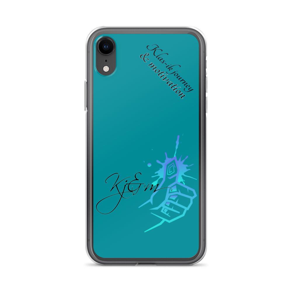 Green Blue Kj&m iPhone Case