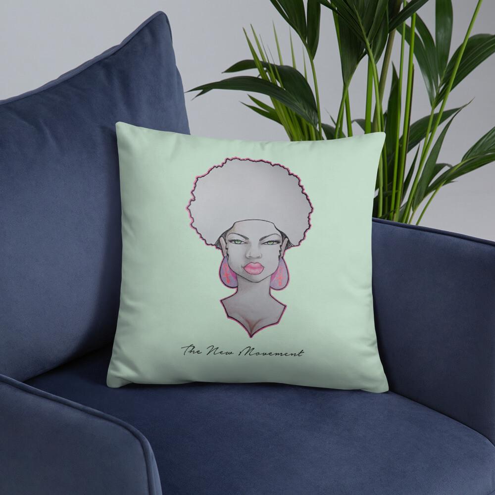 Minty Green Decorative Queen Pillow