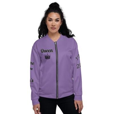 Hot purple Queen Bomber Jacket