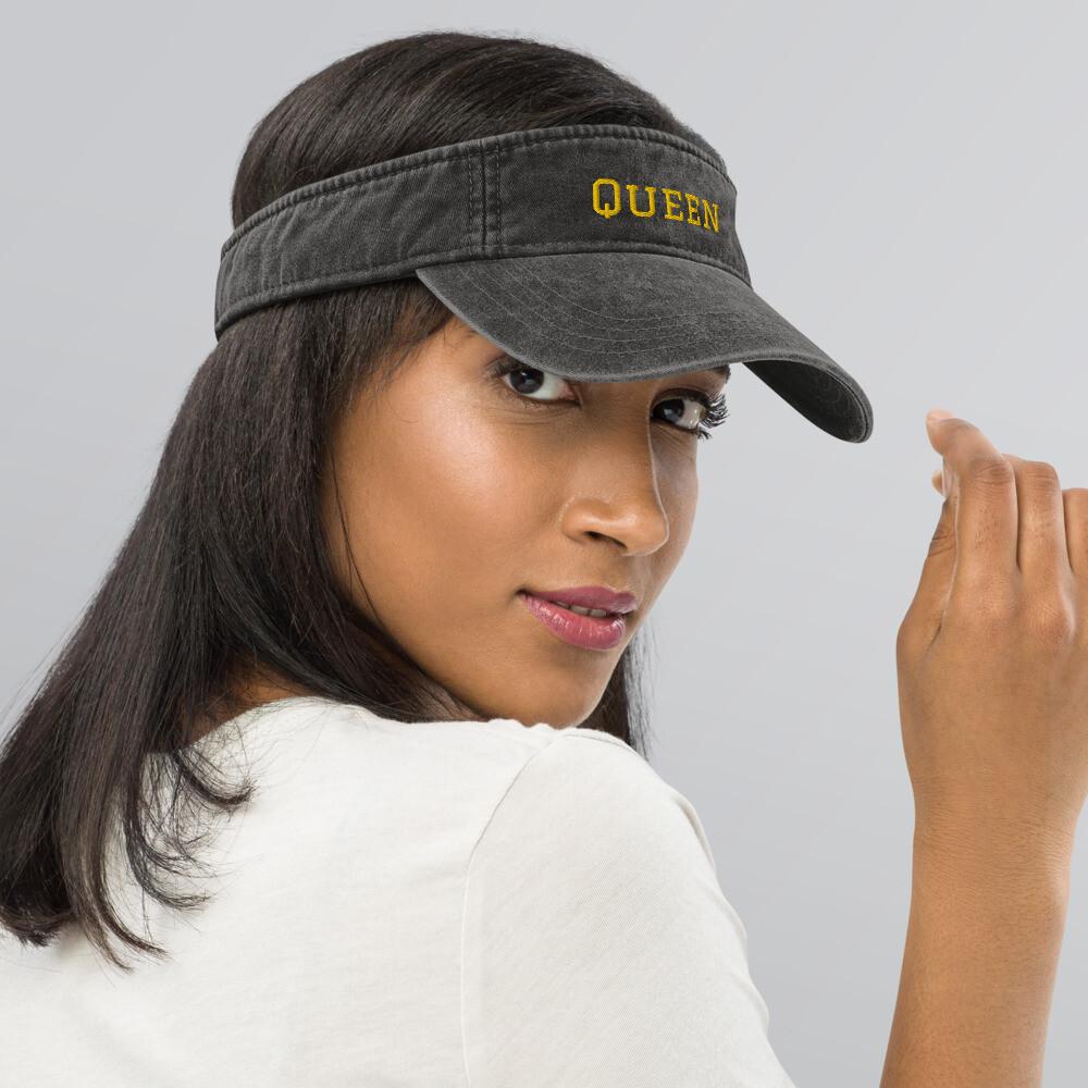 Queen Denim visor