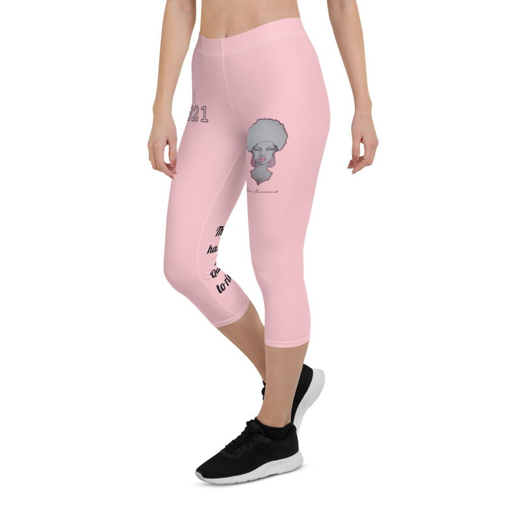 Rise Queen Pink Capri Leggings