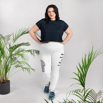 White Queen's Rise Plus Size Leggings