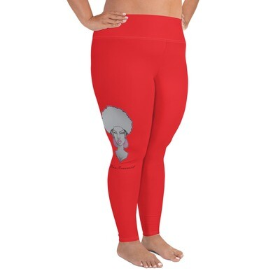 Red Queen's Plus Size Leggings