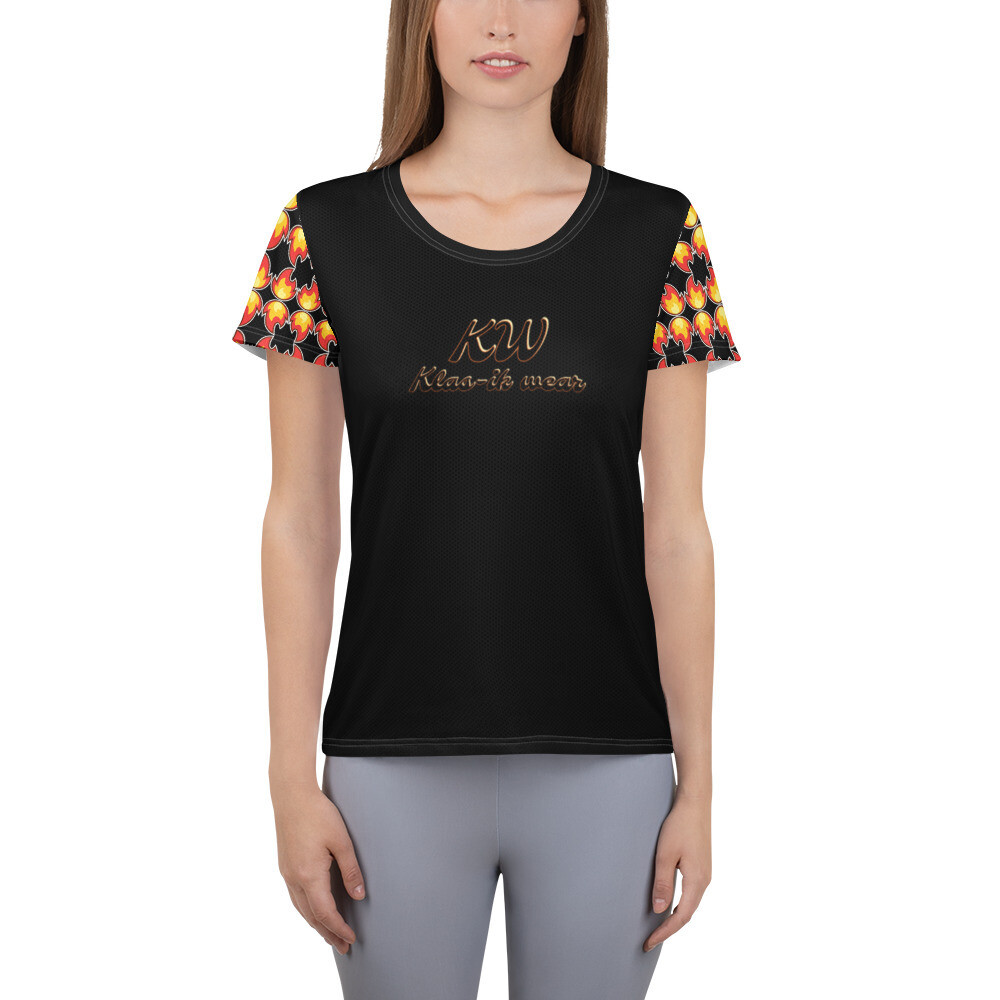 KW Flammable Women's Athletic T-shirt