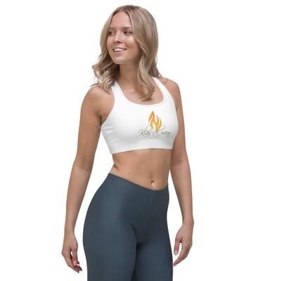 White New Flame KW Sports bra