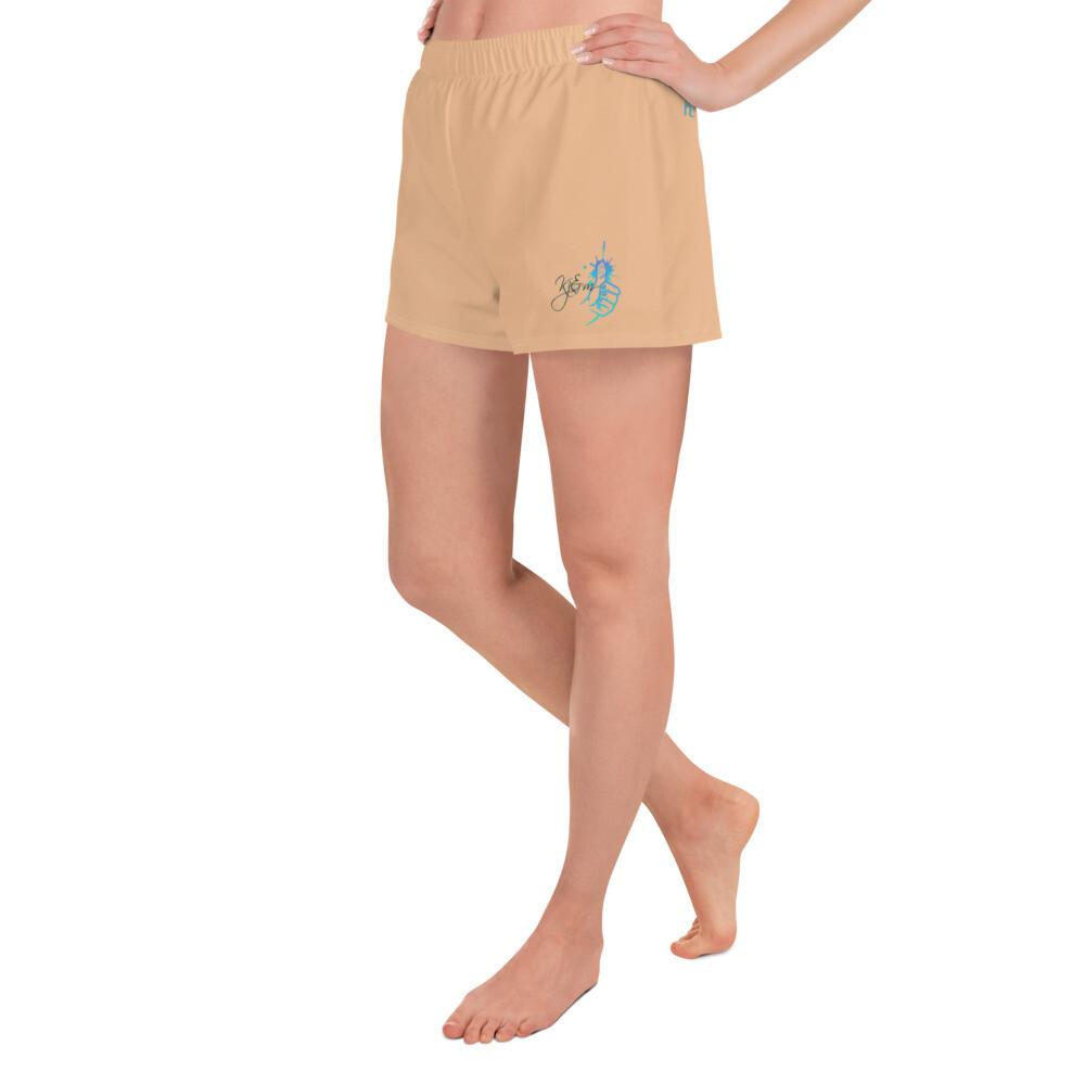 Women's Nude Athletic Short Shorts