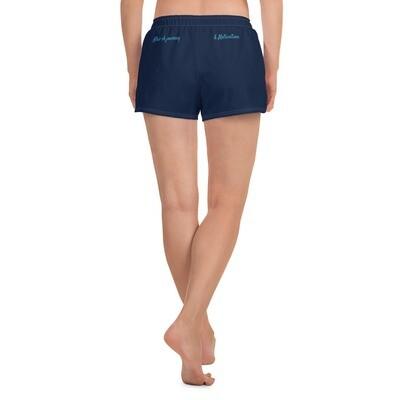 Women's Navy Kj&m Athletic Short Shorts