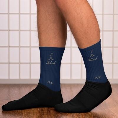 Navy KW Socks