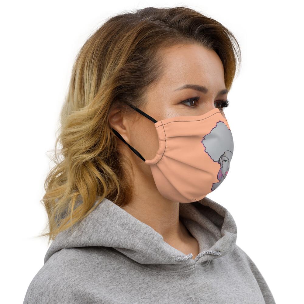 Peach Queen face mask