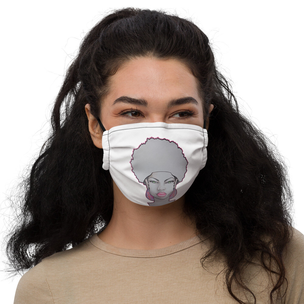 Queen White face mask
