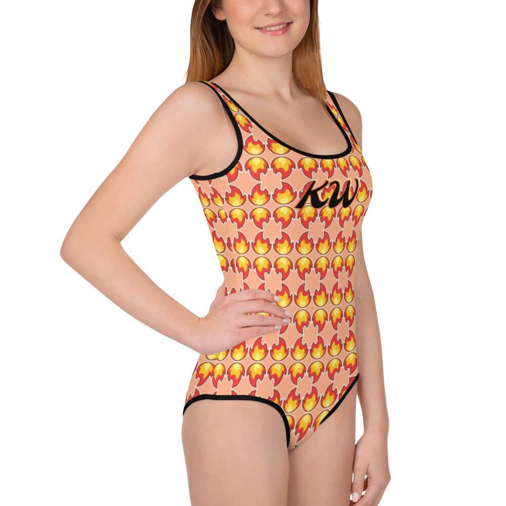 Flammable KW Girl's Swimsuit